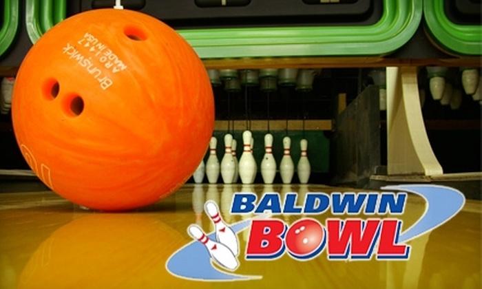 Baldwin Bowl - Baldwin: $10 for $20 Worth of Bowling, Food, and Drinks at Baldwin Bowl