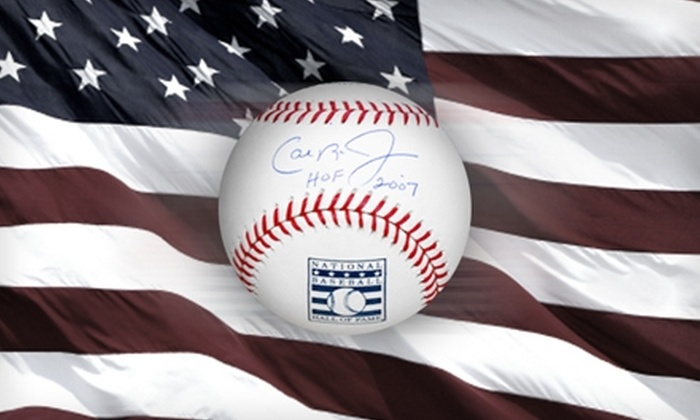Powers Collectibles: $139 for One Cal Ripken Jr. Autographed Hall of Fame Baseball from Powers Collectibles ($278.95 Value)