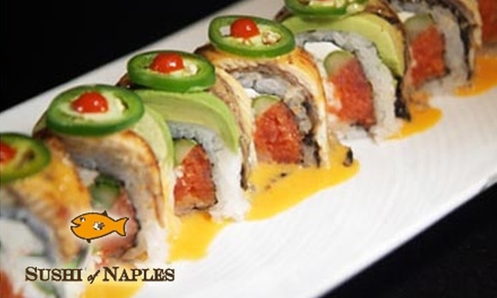 Sushi of Naples - Pasadena: $20 for $40 Worth of Sushi and More at Sushi of Naples in Pasadena