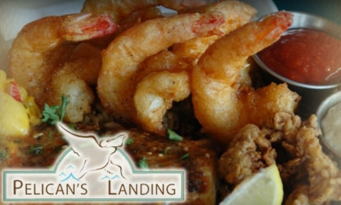 Pelican's Landing - Port Aransas: $15 for $30 Worth of Fresh Seafood, Tender Steaks, Drinks, and More at Pelican's Landing in Port Aransas