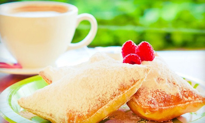 I Heart Cafe - East Park Village: Two or Four Beignets and Coffee or Tea at I Heart Cafe in Garland (Up to 55% Off)