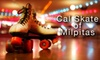 Cal Skate of Milpitas - CLOSED - Milpitas: $6 for One Admission, Skate Rental, and a 16 oz. Drink at Cal Skate of Milpitas (Up to $16.75 Value)