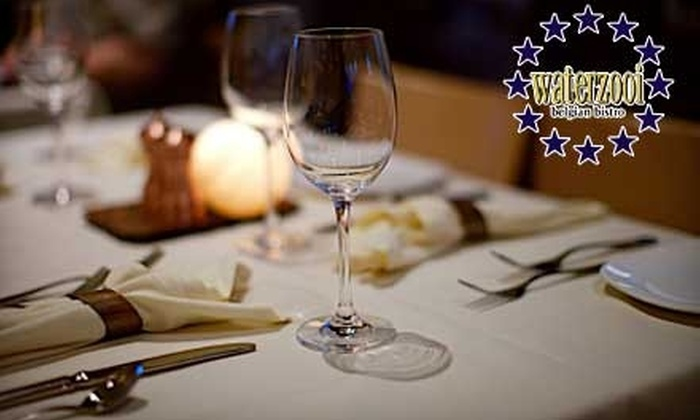 Waterzooi Belgian Bistro - Garden City: $25 for $50 Worth of Belgian Cuisine and Drinks at Waterzooi Belgian Bistro in Garden City