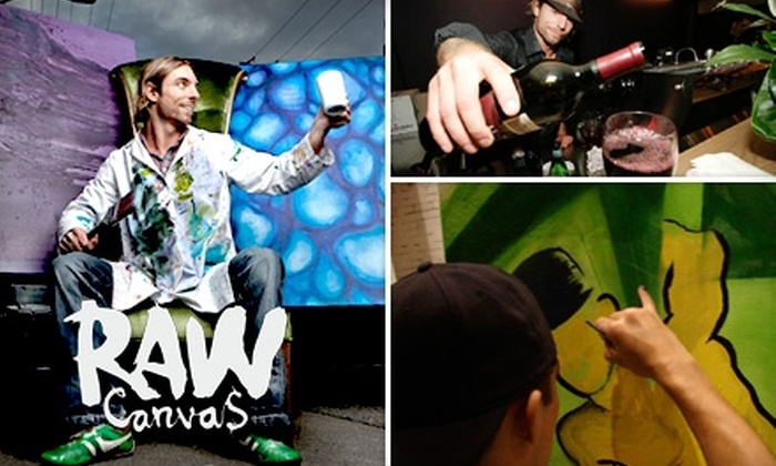Raw Canvas - Downtown Vancouver: $30 for a Small Canvas and Wine Flight at Raw Canvas (Up to $67 Value)