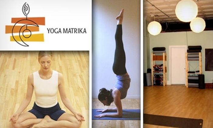 Yoga Matrika - Squirrel Hill North: $35 for Five Classes at Yoga Matrika ($65 Value)
