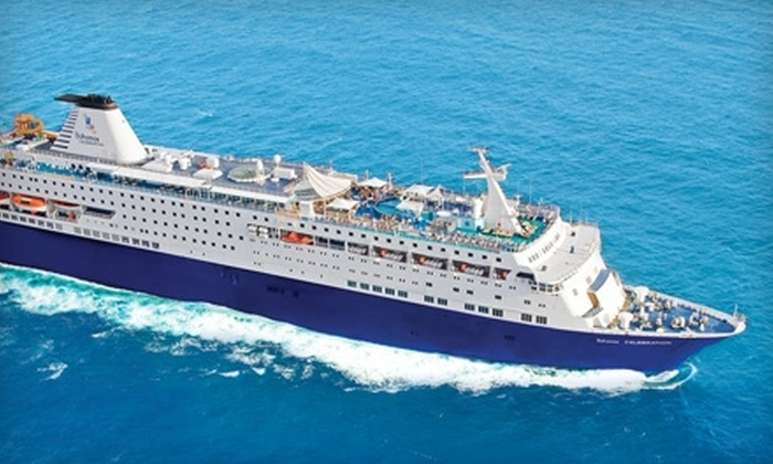 Celebration Cruise Line - Brentwood: $299 for Two-Night Cruise for Two Guests (Up to $630.54 Value) or $499 for Two-Night Cruise and Two-Night Stay in a Bahamas Resort for Two (Up to $1024.26 Value) from Celebration Cruise Line