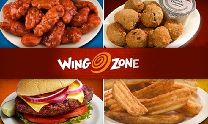 Wing Zone - Multiple Locations: $7 for $15 Worth of Buffalo Wings, Burgers, Shrimp, and More at Wing Zone