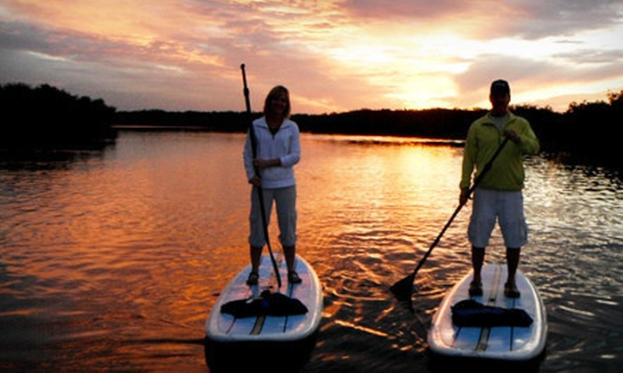 New Smyrna Stand Up - Driggers: Daytime Standup-Paddleboard Tour or Sunset Tour with Picnic for Two or Four from New Smyrna Stand Up (Up to 54% Off)