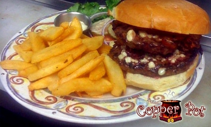 The Copper Pot - Englewood: $15 for $30 Toward American Dinner Fare at The Copper Pot in Englewood (or $10 for $20 Toward Lunch)