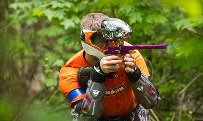 Synergy Paintball - Eaton Township: $20 for Paintball Day at Synergy Paintball in Grafton ($42 Value)