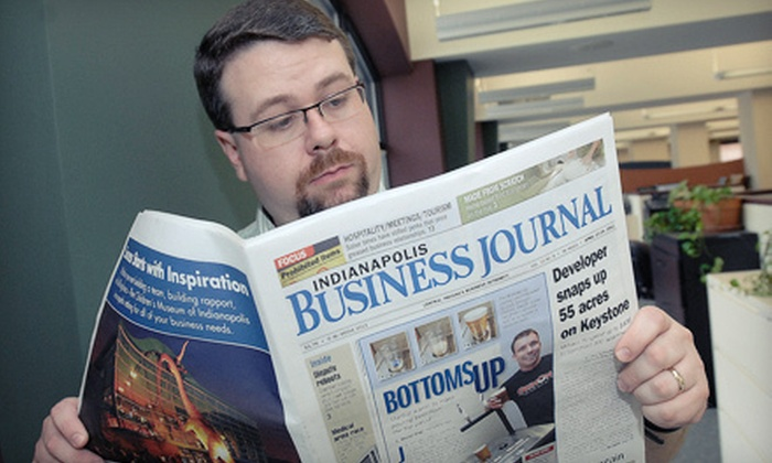 "Indianapolis Business Journal - Indianapolis: Online or Print Subscriptions to ""Indianapolis Business Journal"" (Up to 63% Off). Three Options Available."