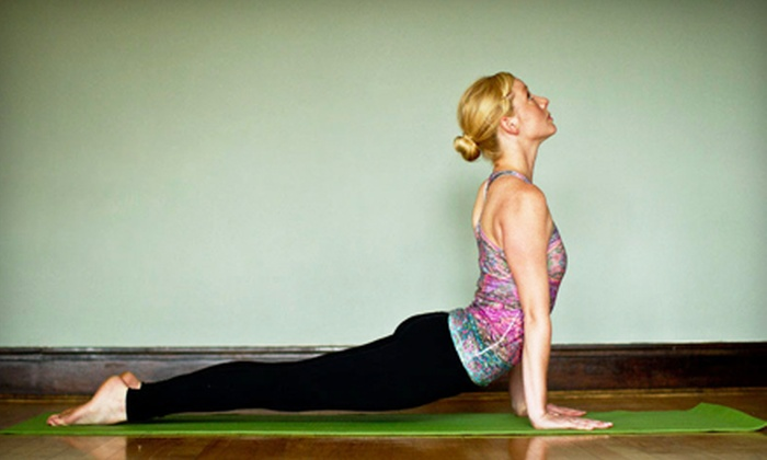 Moksha Yoga Center - Multiple Locations: 5 or 10 Classes at Moksha Yoga Center (Up to 64% Off)