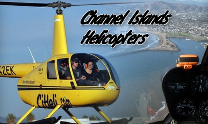 Channel Islands Helicopters - Sea Air: $225 Three-Person Tour and Champagne Package from Channel Islands Helicopters ($400 Value). Choose from Two Options.