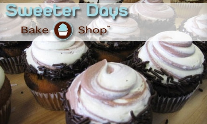 Sweeter Days Bake Shop - Poinsettia Heights: $16 for One Dozen Cupcakes at Sweeter Days Bake Shop
