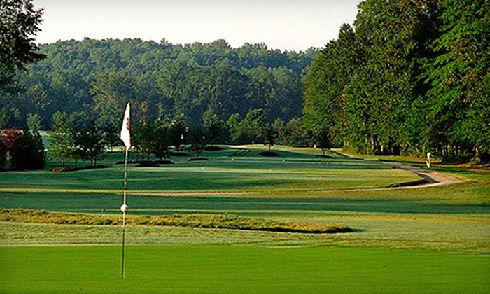River Pines Golf Club - Stone Pond: 18-Hole Round of Golf for Two on Championship Course with Cart Rental, Range Balls, and Lunch or Same Package Plus 9-Hole Round for Two on Par 3 Course at River Pines Golf Club in Johns Creek (Up to 56% Off)