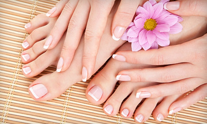 The Spa and Tea Garden - Ridgmar: Shellac Manicure, Regular Mani-Pedi, or Shellac Manicure and Regular Pedicure at The Spa and Tea Garden (Up to 57% Off)