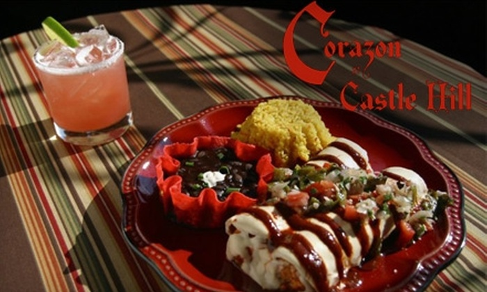 Corazon at Castle Hill - Old West Austin: $15 for $30 Worth of Upscale Mexican Fare and Drinks at Corazon at Castle Hill