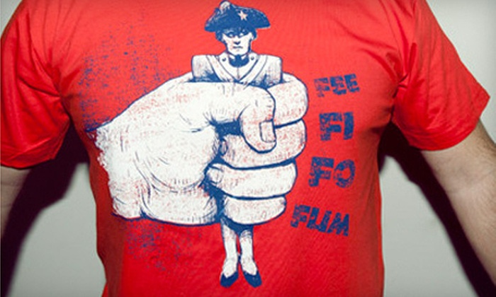 Vardagen - Downtown Fishers: $19 for Vardagen Poster and Giant-Crushing-a-Patriot T-Shirt from Outpost (Up to $46 Value)