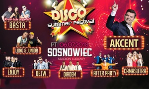 Disco Summer Festival: Od 39 zł: bilet na Disco Summer Festival 2018 na Stadionie Ludowym w Sosnowcu (do -36%)