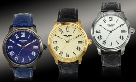 Deporte Prescott Leather Strap Men's Watch