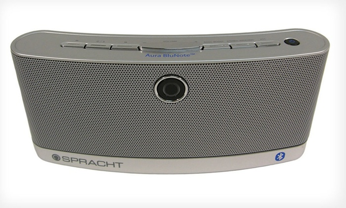 Spracht Aura BluNote Portable Bluetooth Wireless Speaker: Spracht Aura BluNote Portable Wireless Speaker. Free Shipping and Returns.