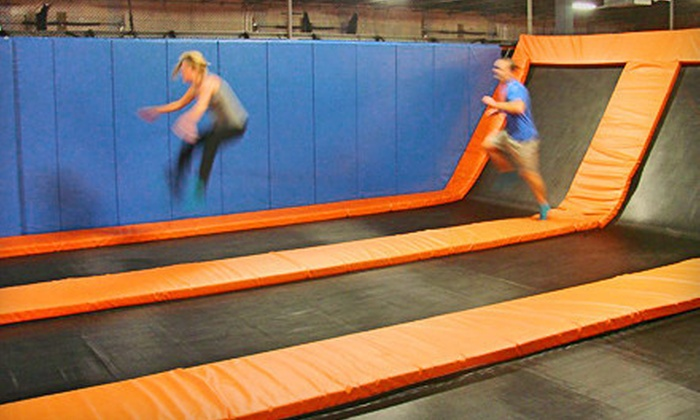 AirMaxx Trampoline Park - St. Cloud: Indoor Trampoline Time for Two or Jump Party for Four on a Friday or Saturday at AirMaxx Trampoline Park (Up to 53% Off)