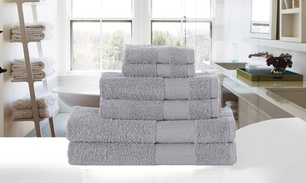 Six-Piece Egyptian Cotton Towel Bale in Choice of Colour