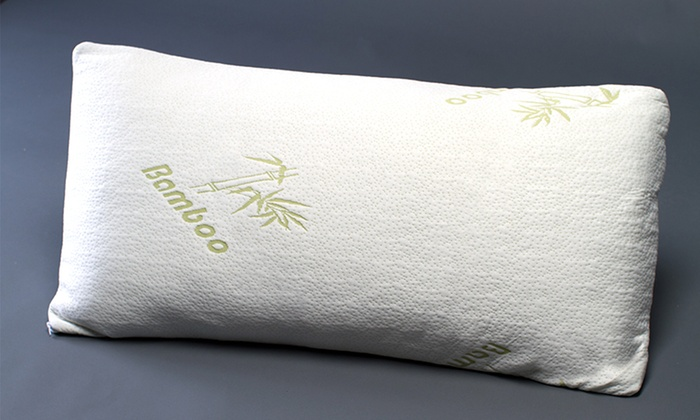 Memory Foam Pillows With Bamboo Covers 1 Or 2 Pack