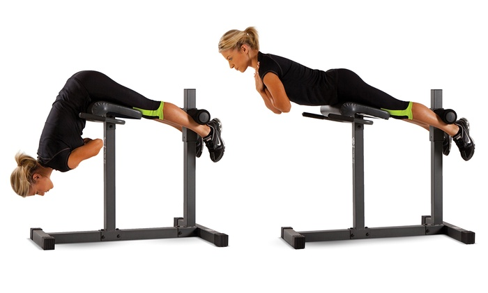 marcy roman chairhyperextension bench groupon