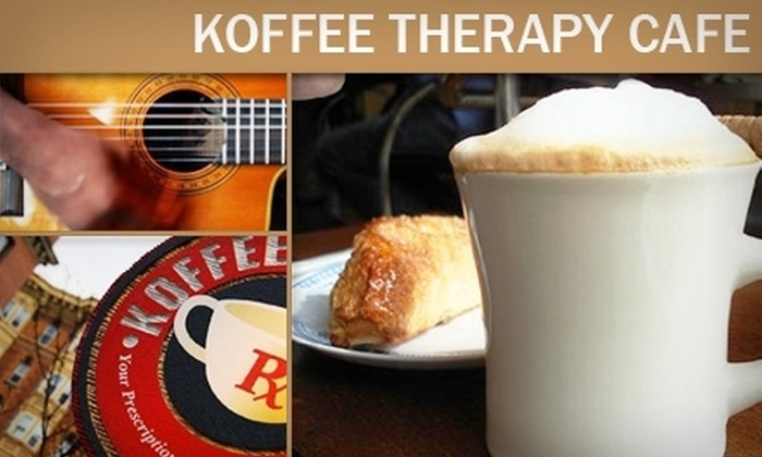 Koffee Therapy Cafe - Downtown: $5 for $10 Worth of Organic Coffees and Café Fare at Koffee Therapy Cafe