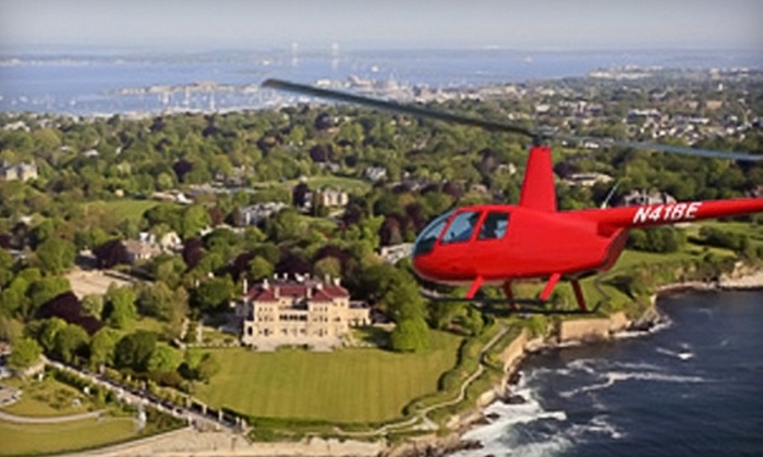 Bird's Eye View Helicopters - Newport East: $99 for an Aerial Mansion Tour for Three People from Bird's Eye View Helicopters in Middletown (a $177 Value)