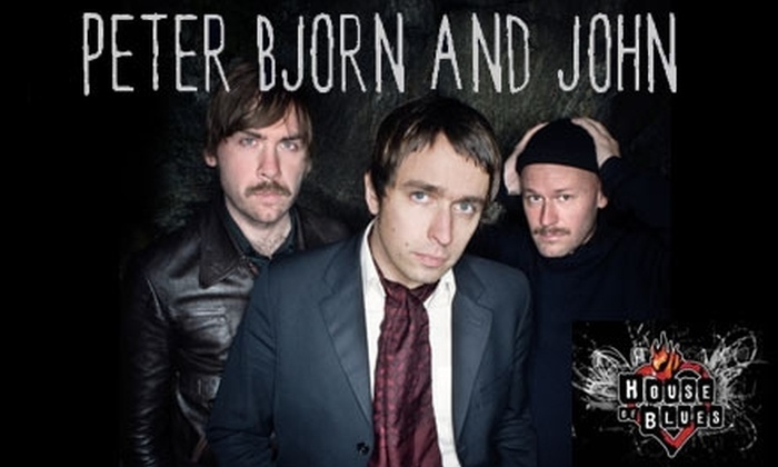 House of Blues San Diego - Core-Columbia: $10 Tickets to See Peter Bjorn & John, El Perro Del Mar, and Lights On at the House of Blues on November 18 ($20 Value)