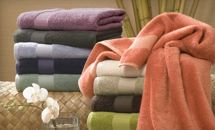 Bamboo Collection Six-Piece Towel Set With Shipping: Aloe (a $111 value) - Six-Piece Towel Set in