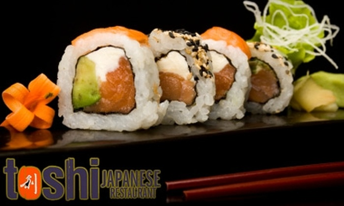 Toshi Japanese Restaurant - Avon: $25 for $50 Worth of Sushi and Sake at Toshi Japanese Restaurant