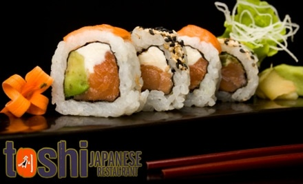 $50 Groupon to Toshi Japanese Restaurant - Toshi Japanese Restaurant in Avon