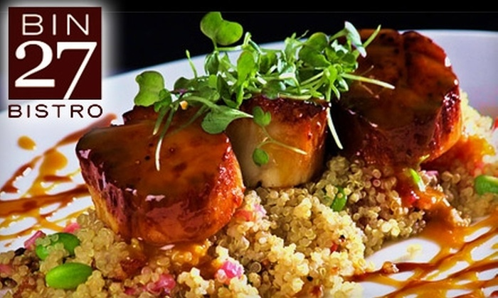 Bin 27 Bistro - Southwest Tampa: $12 for $25 Worth of Fusion Lunch Cuisine at Bin 27 Bistro (or $20 for $40 Worth of Dinner Fare)