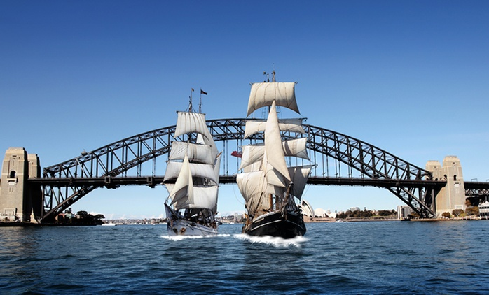 From $59 for a Lunch or Dinner Harbour Cruise and Drinks Package with Sydney Harbour Tall Ships (From $121 Value)