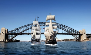Sydney Harbour Tall Ships: Lunch or Dinner Twilight Cruise for One ($69) or Two ($135) with Sydney Harbour Tall Ships (Up to $218 Value)