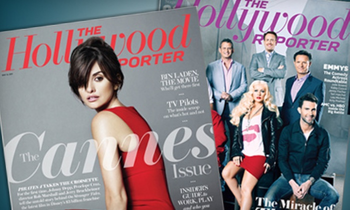"""Hollywood Reporter: $49 for a One-Year Weekly Subscription to the """"Hollywood Reporter"""" ($99 Value)"""