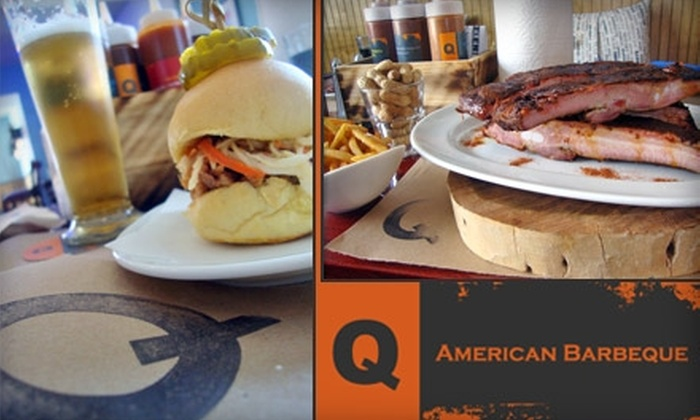 Q American Barbeque - Little Haiti: $15 for $35 Worth of Barbecue and Saucy Drinks at Q American Barbeque