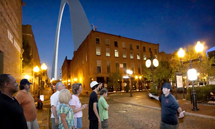 St. Louis Fun Tours - Columbus Square,Downtown: Haunted St. Louis Walking Tour for One or Two from St. Louis Fun Tours (Up to 53% Off)