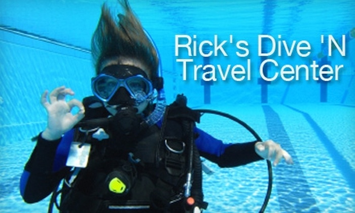 "Rick's Dive 'N Travel Center - North Little Rock: $10 for an Introductory ""Discover Scuba"" Class at Rick's Dive 'N Travel Center (a $25 Value)"