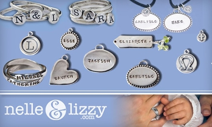 Nelle & Lizzy - Boston: $25 for $50 Worth of Custom-Stamped Silver Jewelry by Nelle & Lizzy