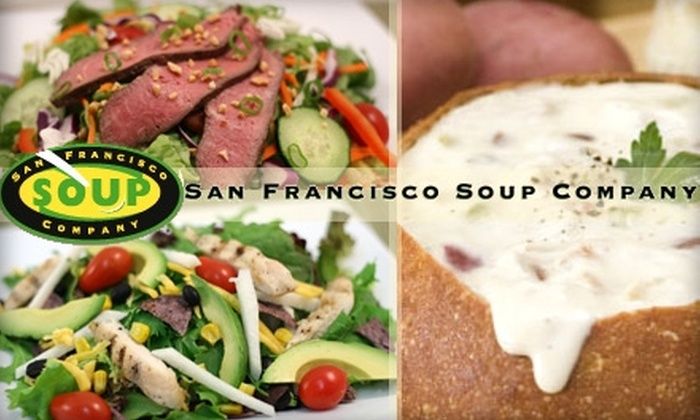 San Francisco Soup Company - Multiple Locations: $5 for $10 Worth of Custom-Tossed Salads and More at San Francisco Soup Company