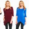 Women's Three-Quarter-Sleeve Tunic Top