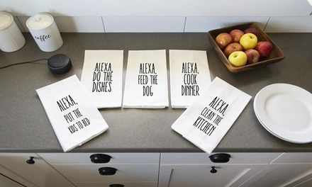 One, Two, Three, Five, or Ten Personalized Personal Assistant Tea Towels from Qualtry (Up to 80% Off)