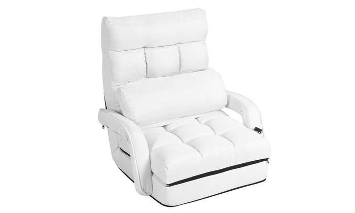 Cool Up To 50 Off On Folding Lazy Sofa Bed Chair Groupon Goods Machost Co Dining Chair Design Ideas Machostcouk