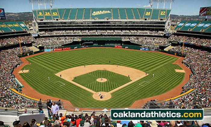 Oakland A's - Coliseum Industrial Complex: Oakland A's Games at The Coliseum (Up to Half Off). Three Games and Two Seating Options Available.