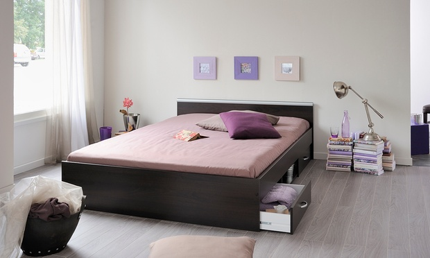 lit tiroir taille et coloris au choix groupon shopping. Black Bedroom Furniture Sets. Home Design Ideas
