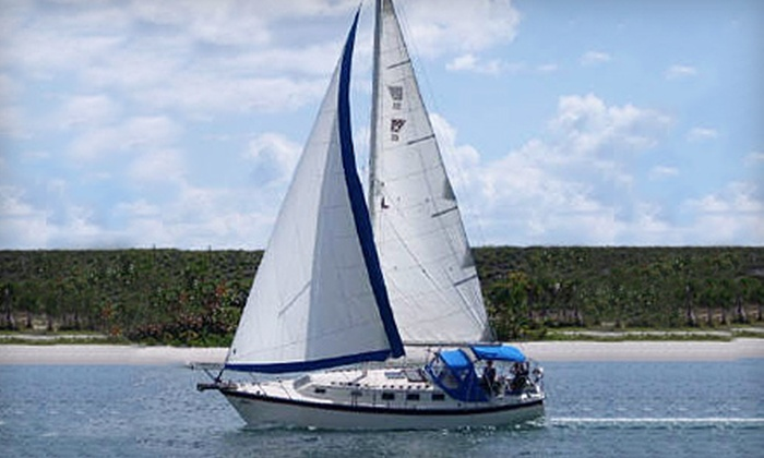 Palm Beach Sailing Charters - Corinthian Condominiums: Four-Hour Sailing and Snorkeling Charter for Two or Six from Palm Beach Sailing Charters in North Palm Beach